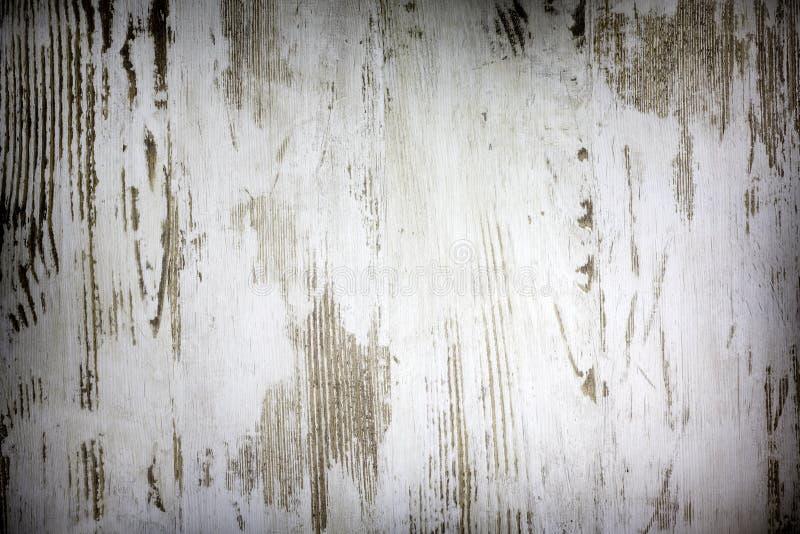 Vintage de madeira velho placas brancas danificadas imagens de stock royalty free