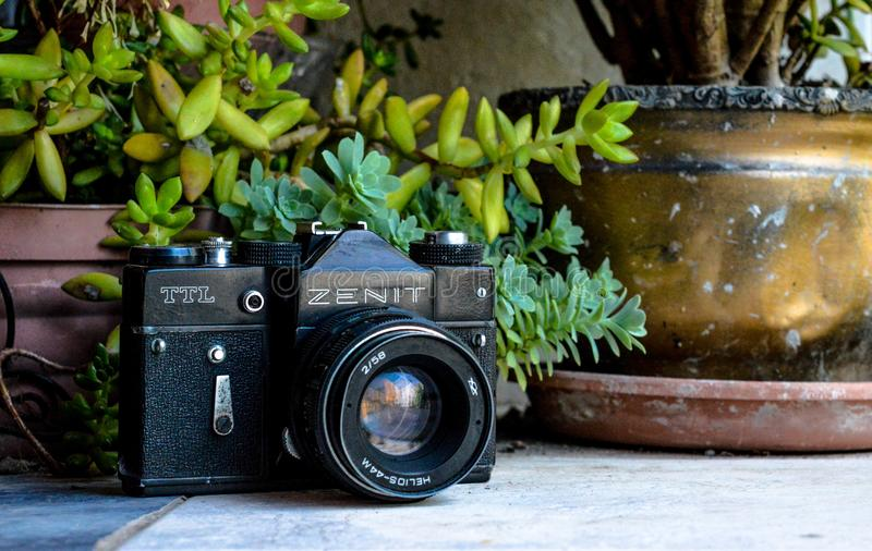 Vintage de reteo de Camara photo stock