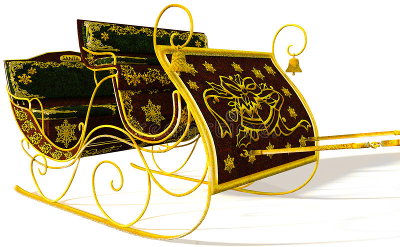 Vintage de Sleigh illustration de vecteur
