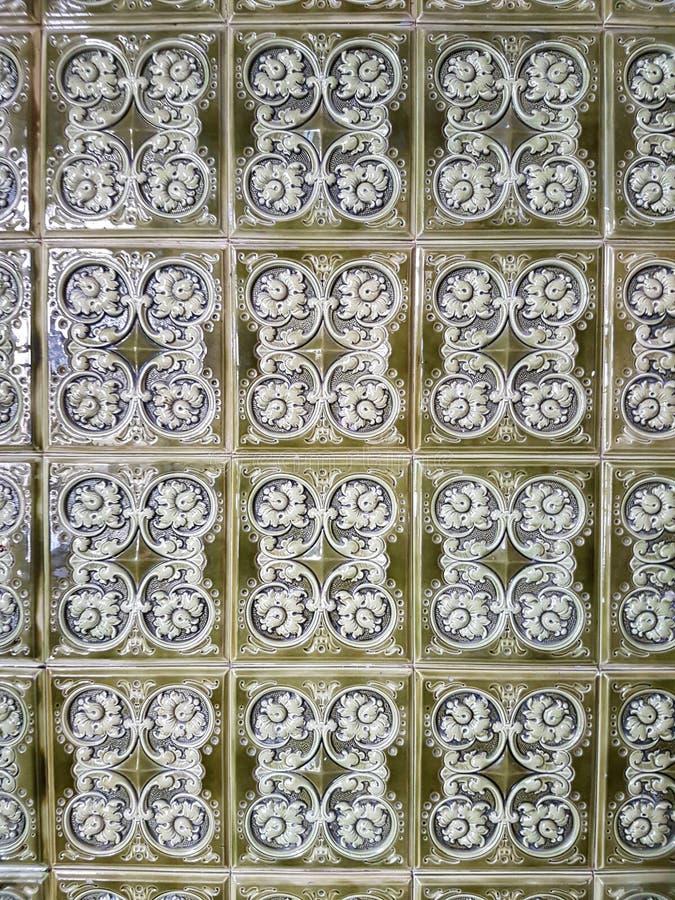 Vintage decor. Decorative tiles. stock image