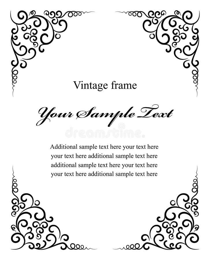 Vintage decoration frame