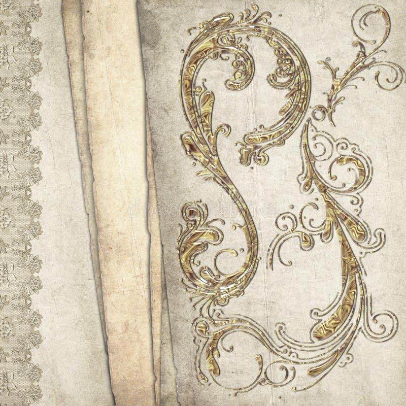Vintage decorative background stock images
