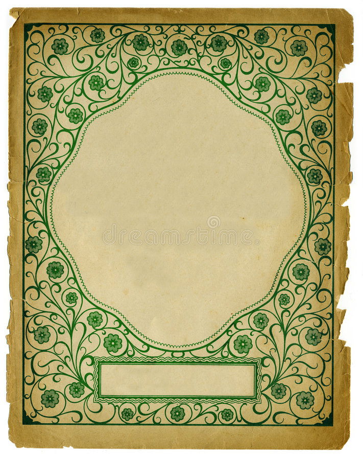 Free Vintage Decorative Background Design On Old Paper Stock Photography - 4054242