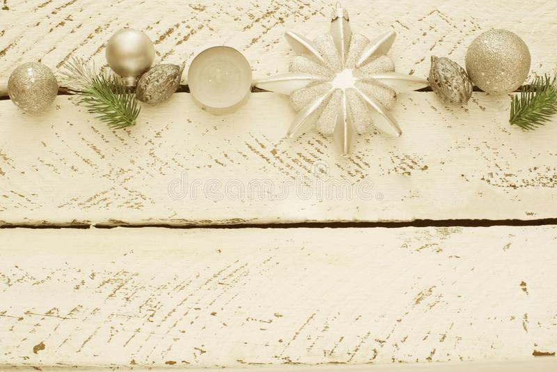 Vintage decorative Christmas composition. stock image