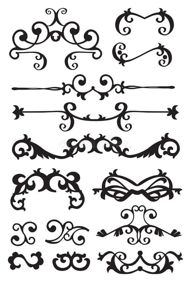 Vintage decorative design elements
