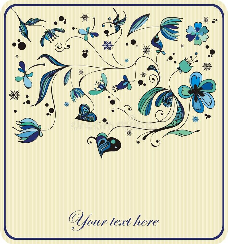 Download Vintage Decorative Design,winter Flowers Stock Vector - Image: 11838426