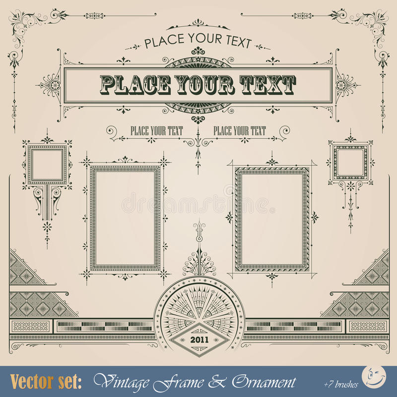 Vintage decorative elements stock illustration