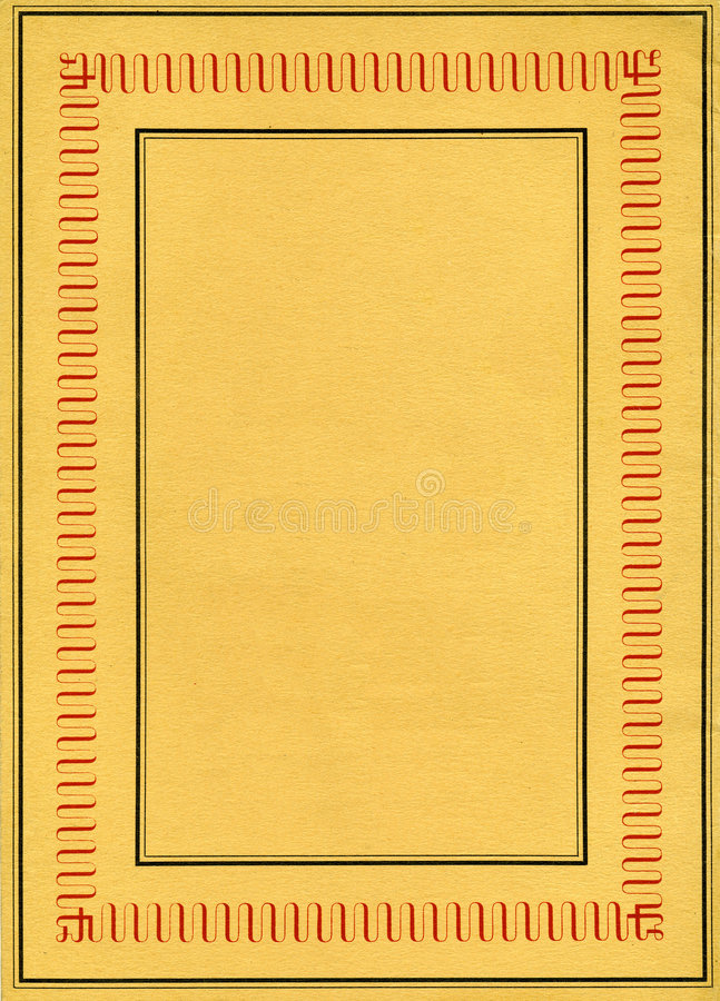 Vintage Decorative Frame Against Paper Texture stock photography