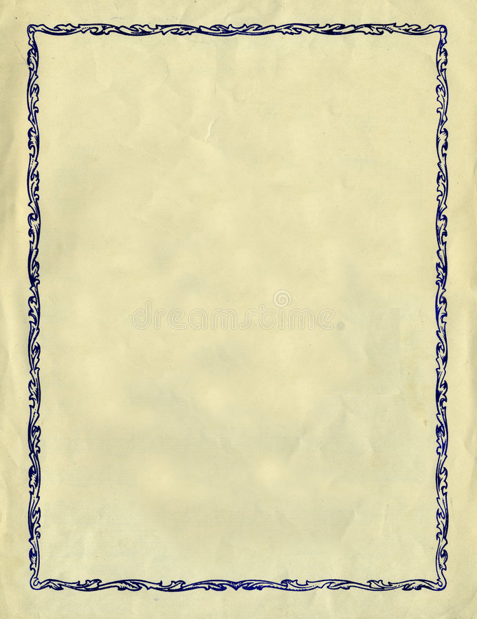 Vintage Decorative Frame Against A Rough Paper Tex stock photos