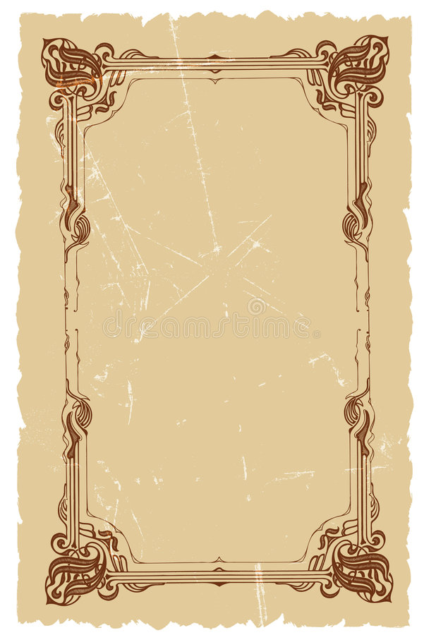 Vintage Decorative Frame Vector Background Design Stock Vector ...
