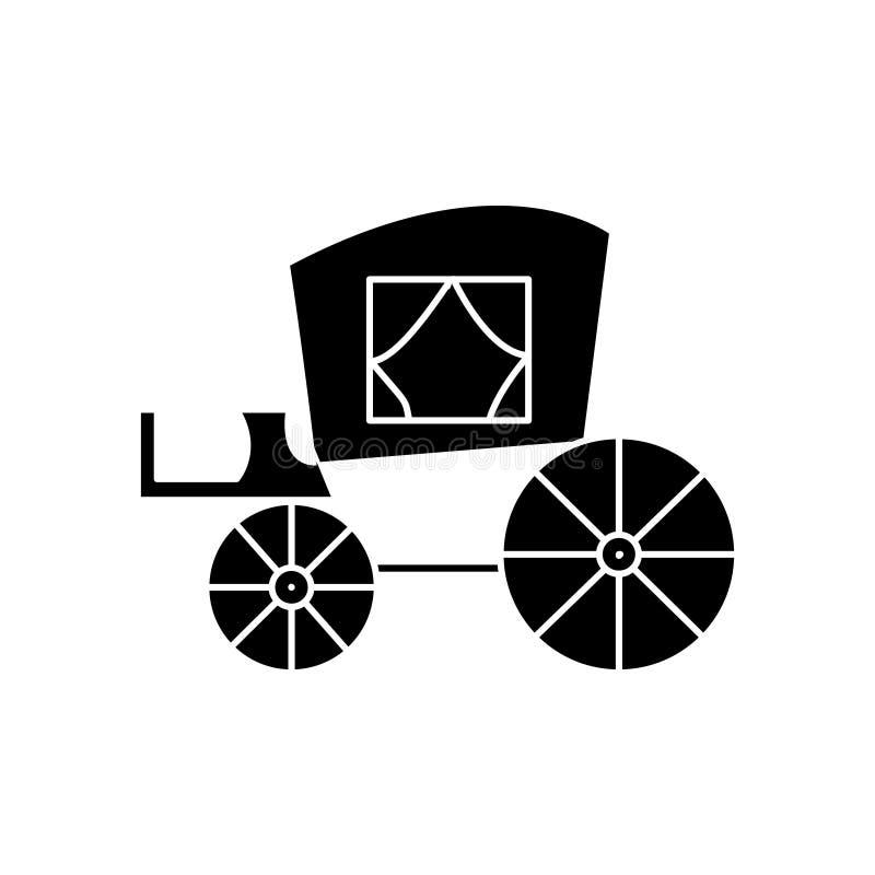Vintage del carro, icono antiguo del transporte, ejemplo del vector, muestra en fondo aislado libre illustration