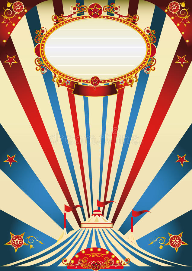 Vintage del circo stock de ilustración