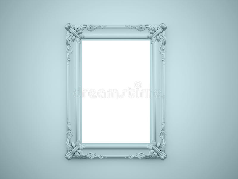 Vintage del marco del espejo rendido stock de ilustraci n for Marco espejo vintage