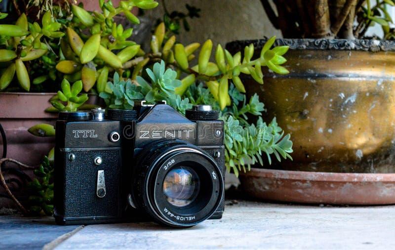 Vintage del reteo de Camara foto de archivo