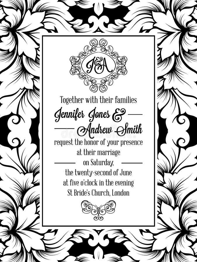 Vintage delicate formal invitation card stock vector image 96758909 download vintage delicate formal invitation card stock vector image 96758909 stopboris Choice Image