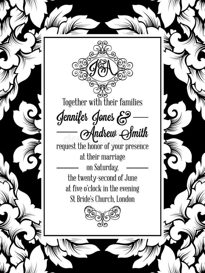Vintage delicate formal invitation card stock vector illustration download vintage delicate formal invitation card stock vector illustration of graceful bridal 96758956 stopboris Choice Image