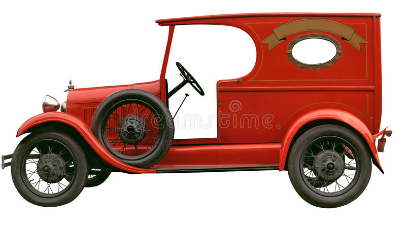 Vintage delivery car stock images
