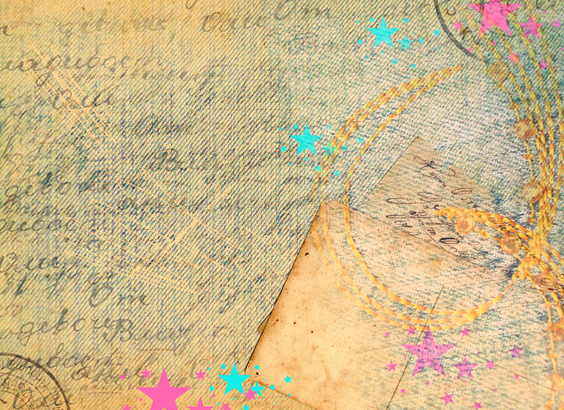 Vintage denim background royalty free stock photography