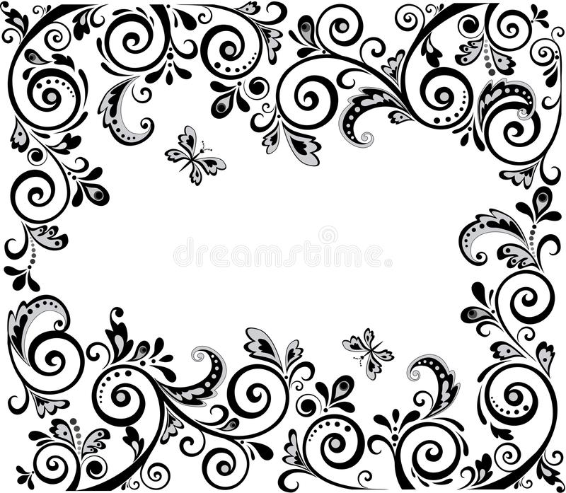 Download Vintage Design Black And White Stock Vector