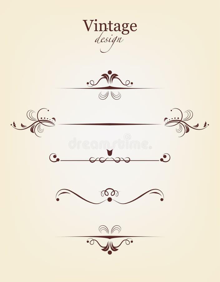 Download Vintage design elements stock vector. Image of calligraphy - 18007168