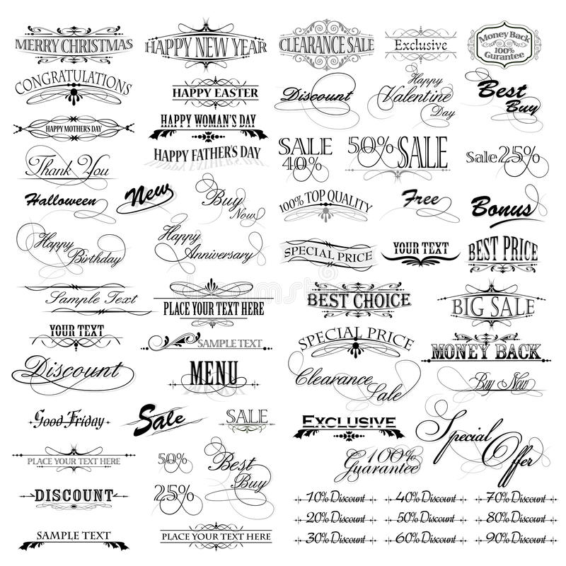 Vintage Design Elements vector illustration