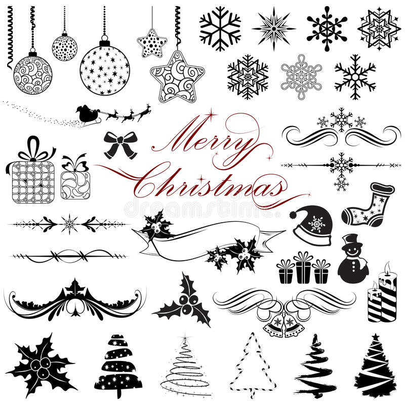Vintage Design elements for Christmas vector illustration