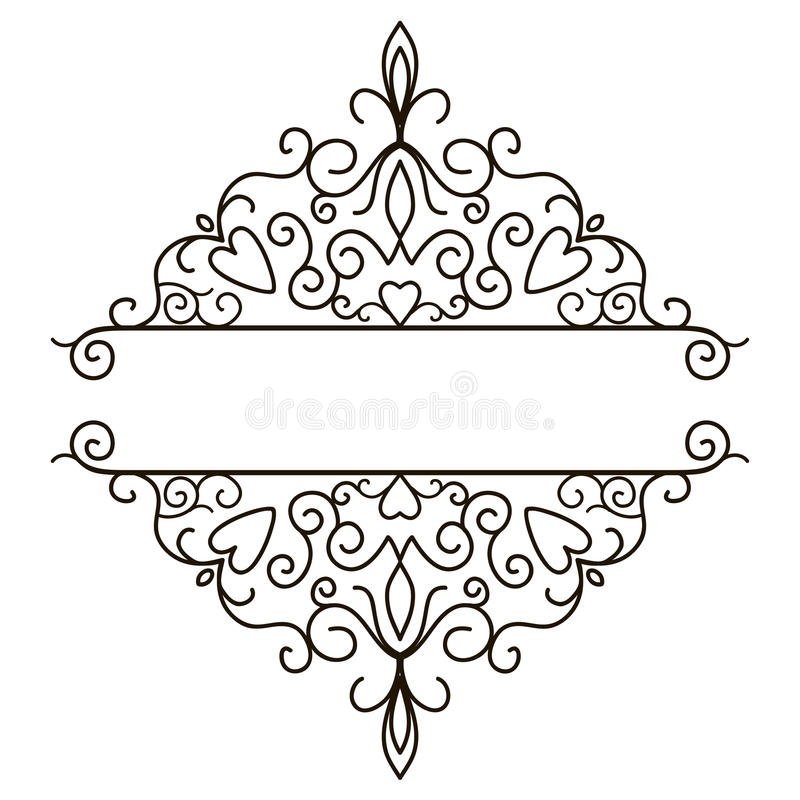 Vintage Design Elements For Page Border Stock Vector