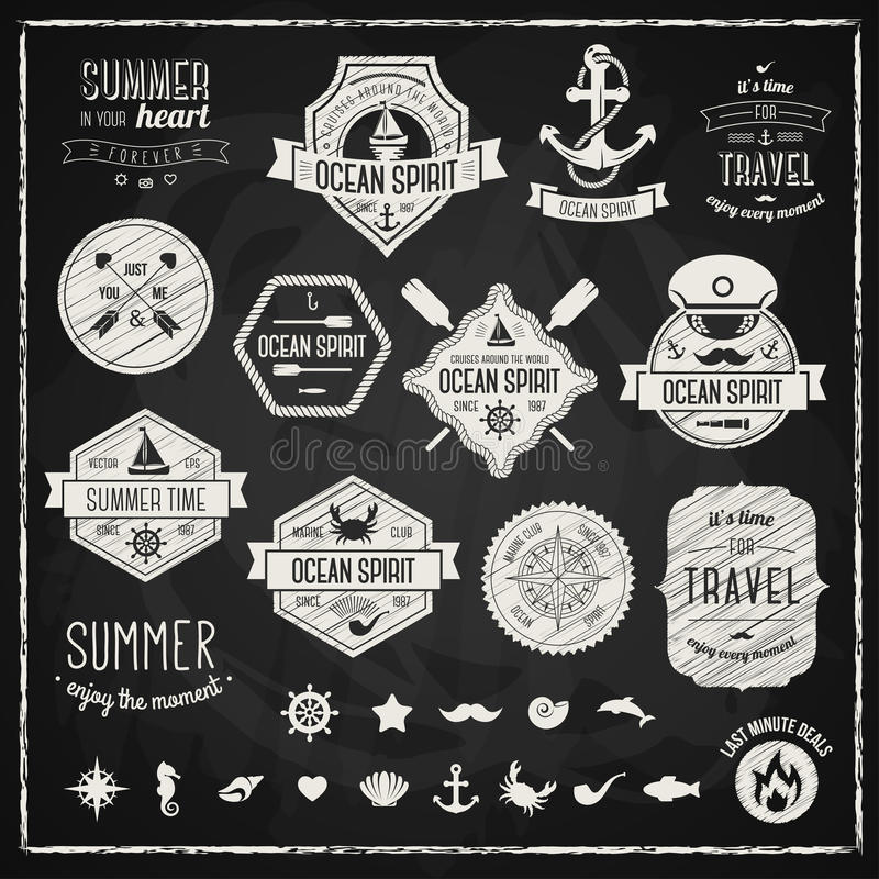 Vintage design elements. Vector illustration stock illustration
