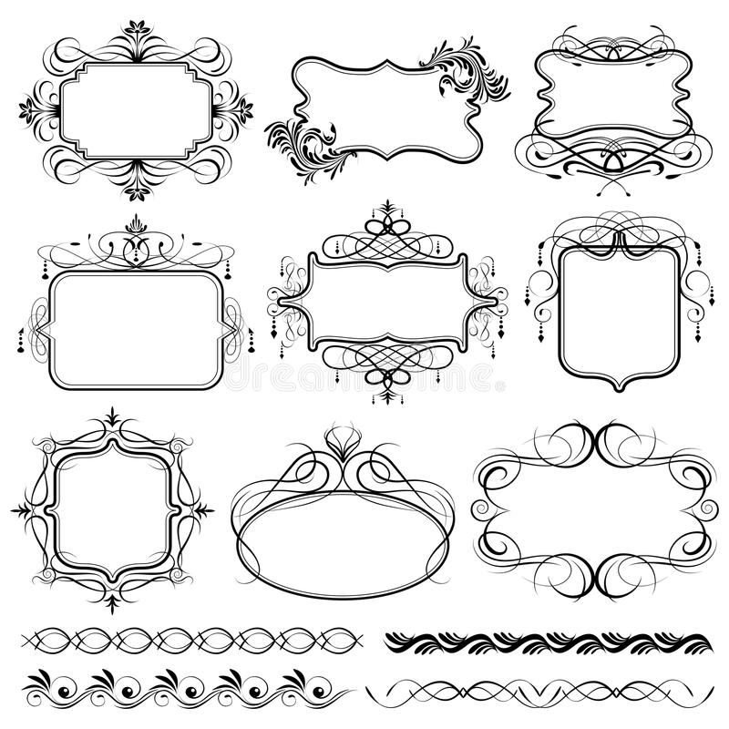 Vintage Design Frame stock illustration