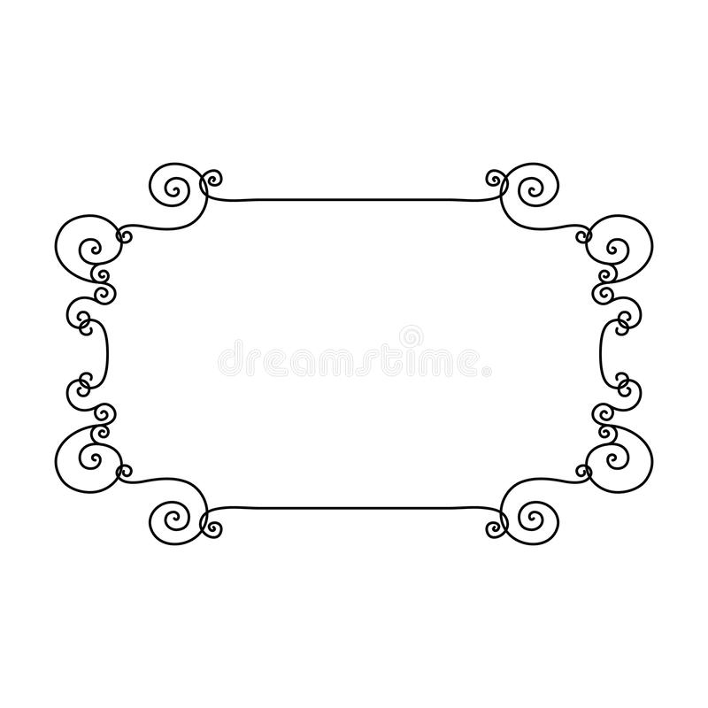 Decorate frame spiral element vector illustration