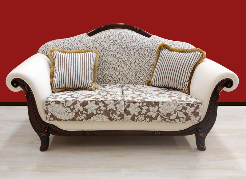 Vintage design style sofa royalty free stock photo