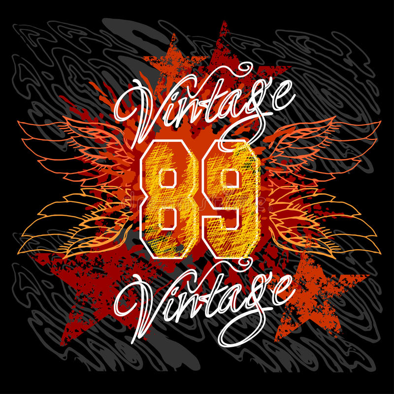 Vintage design t shirt printing stock vector image for Vintage t shirt printing