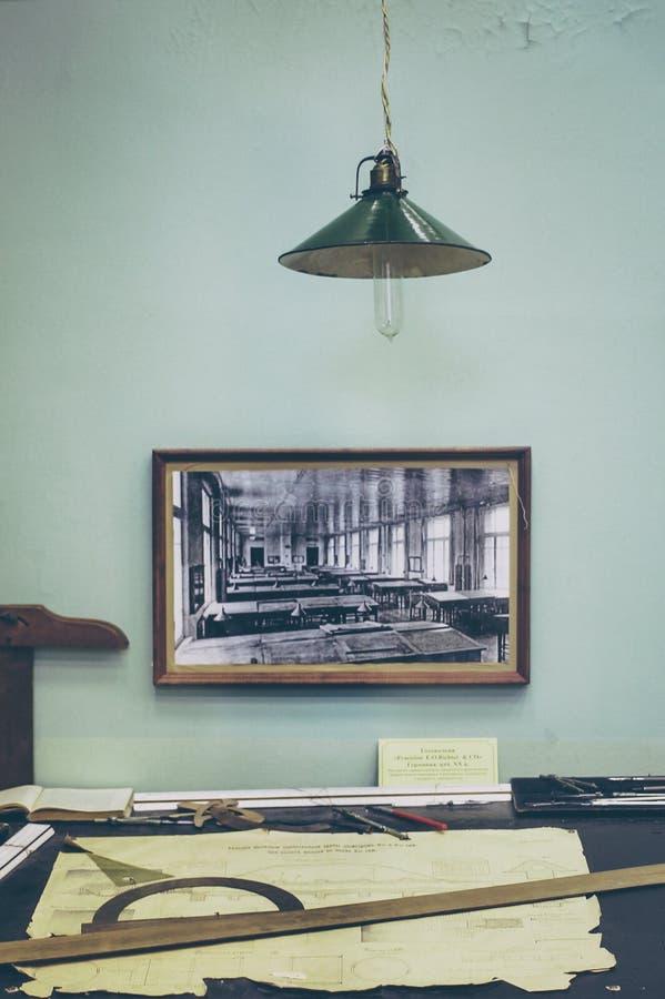 Vintage desk royalty free stock photography
