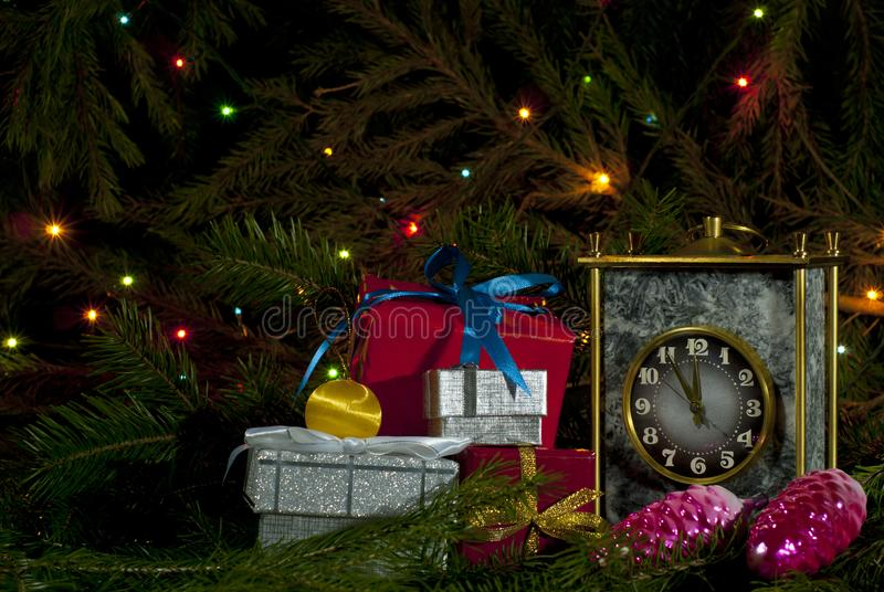 Christmas / New Year`s composition royalty free stock photography