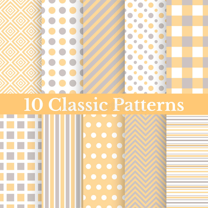 Free Vintage Different Vector Seamless Patterns Royalty Free Stock Photos - 44473748