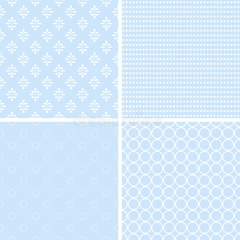 Vintage different vector seamless patterns. stock illustration