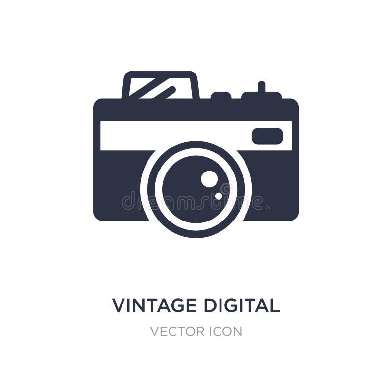 Vintage digital camera icon on white background. Simple element illustration from Technology concept. Vintage digital camera sign icon symbol design royalty free illustration