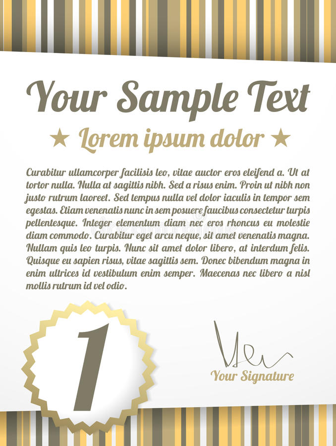 Download Vintage Diploma With Space For Your Text Stock Photography - Image: 25199972