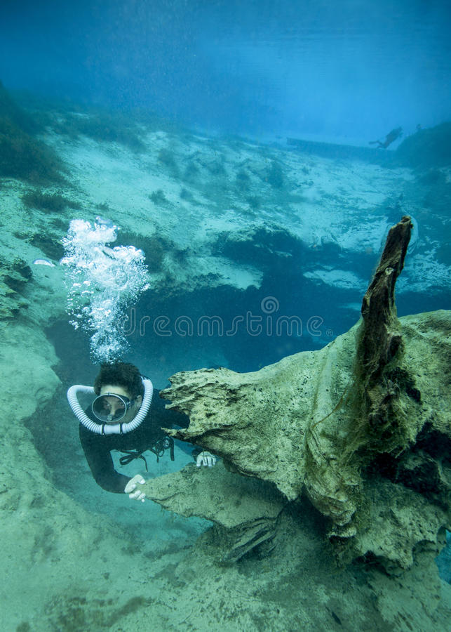 Download Vintage Diver - Morrison Springs Cavern Editorial Stock Photo - Image: 25220018