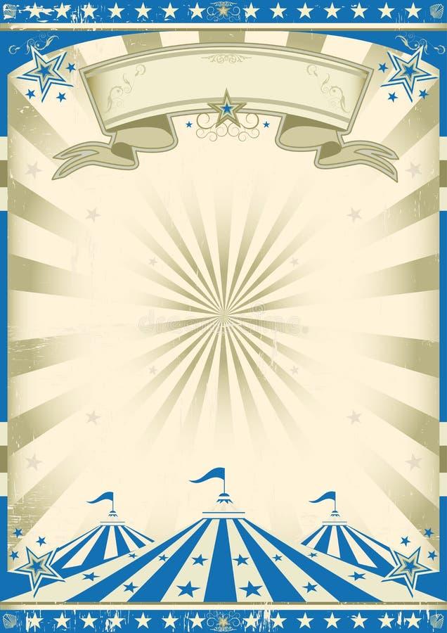 Vintage do azul do circo ilustração royalty free