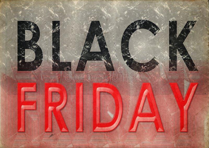 Vintage do grunge de Black Friday ilustração royalty free