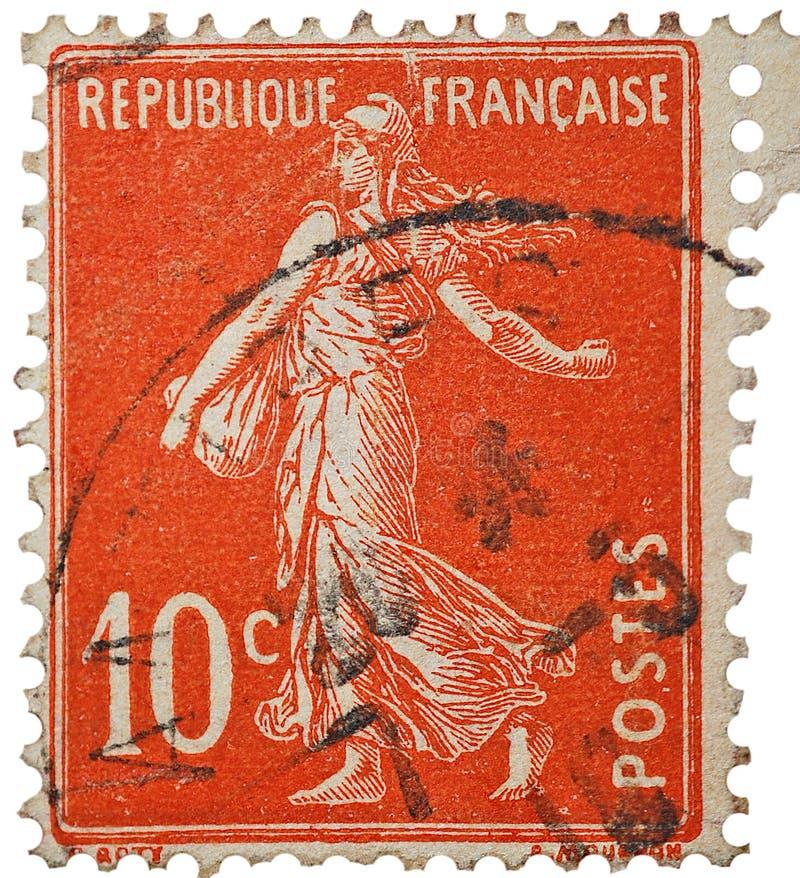 Vintage do selo do francês imagem de stock