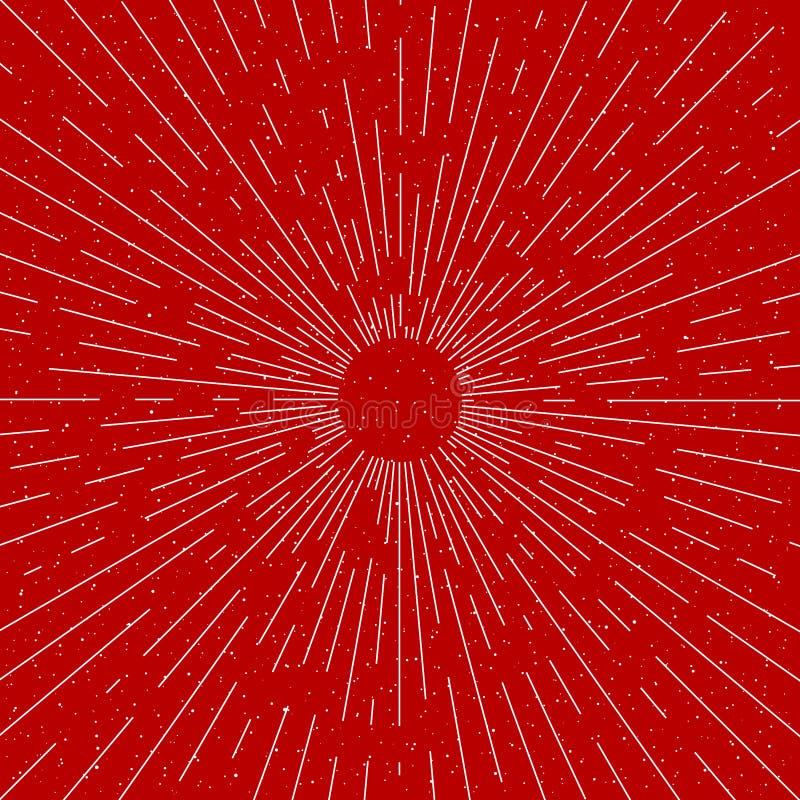Vintage do vetor que estoura raios - elementos do projeto ilustração do vetor