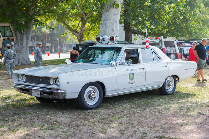 Vintage dodge coronet police car on display editorial for Woodland motors used cars