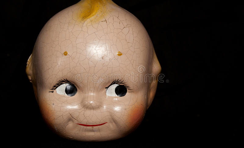 Download Vintage doll face stock image. Image of cracked, vintage - 52556979