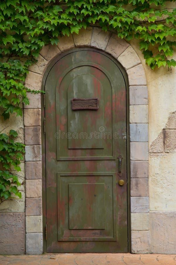 Download Vintage door stock photo. Image of doorway, green, beautiful - 26603952