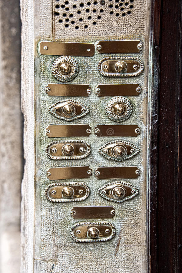 Vintage door bell buttons stock image. Image of beautiful - 57167059