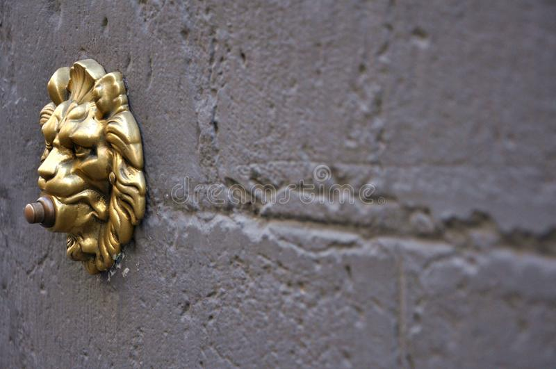Vintage door bell in Italy royalty free stock image