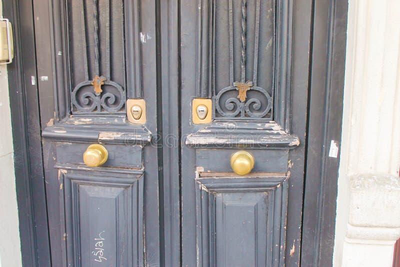 Vintage Door Detail Rusty Rustic Architecture Symbol. Timber Closeup Building stock photos