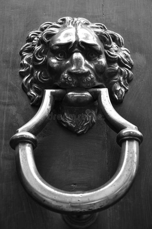 Vintage Door Knob In Italy Stock Photo